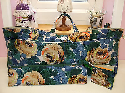 Knitting/sewing Bag Handmade Cath Kidston Fabric New