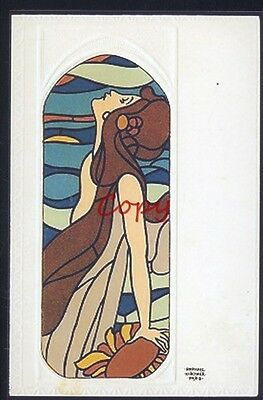Kirchner Stain Glass Window Stained Glass 1903 Postcard Copy
