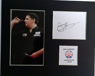 Limited Edition Gary Anderson Darts Signed Mount Display THE FLYING SCOTSMAN