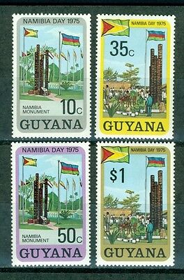 Guyana Scott #222-225 MNH Namibia Day Freedom Monument Flags $$
