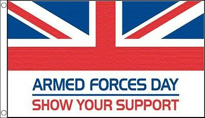 8' x 5' ARMED FORCES DAY FLAG World War 1 WW1 WW2 Remembrance Show Your Support