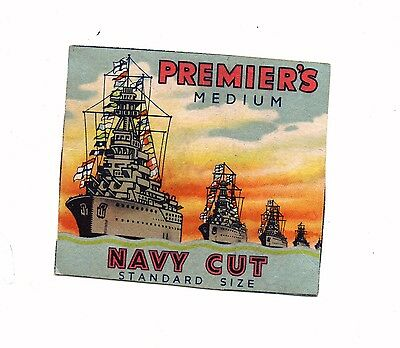 PREMIERS MEDIUM CIGARETTES  PACKET FRONT. (No Back or Sides )