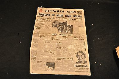 Reynolds News - Late London Ed. - April 2, 1944 - Russia 25 Miles From Odessa