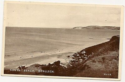 Old Postcard-BENLLECH-SOUTH BEACH-ANGLESEY-Wales-by Valentines