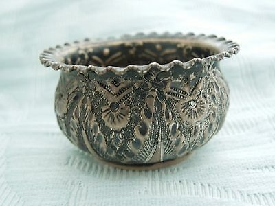 1897 Sterling Silver Chester assay decorative pot in original condition.