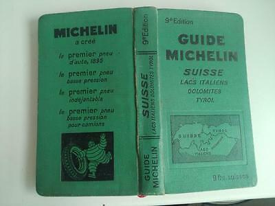 Guide Michelin Suisse Dolomites Tyrol Lacs 9eme Edition 1931-1932 complet TBE