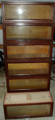 1920's LAWYERS BOOKCASE ANTIQUE GLOBE WERNICK STACKING BOOKCASE 6 SECTIONS