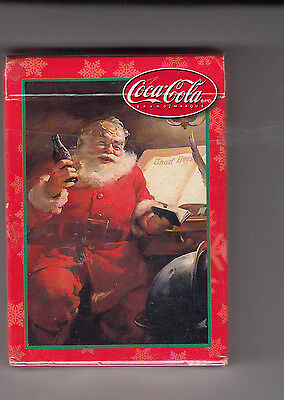 "Coca-Cola Playing Cards Christmas Theme ""unsealed"""