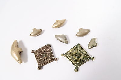 8 alte Metall Amulette C Anhänger Fulani Old Metal Charms Afrozip