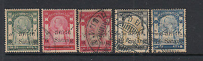 A very nice old Thailand 1909 Surcharged group