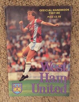 WEST HAM UNITED - Official Handbook 1987/88