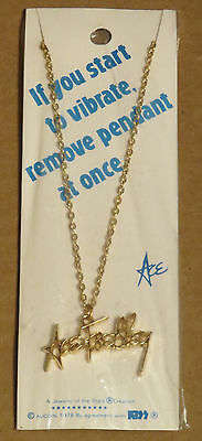 Kiss Vintage Ace Frehley Signature Necklace Sealed On Card 1978 Aucoin