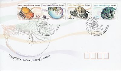Cocos (Keeling) Isls: 2007 Living Shells First Day Cover.Going cheap