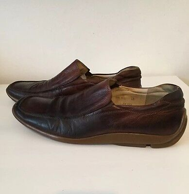 Azor Italian Smart Formal Work Brown Wedding Slip On Fashion Moccasins Shoes 9