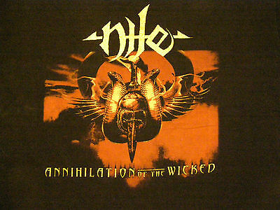 NILE-ANNIHILATION OF THE WICKED tour 2006 vintage music t-shirt (metal) size XL