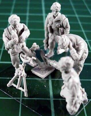 "Milicast FIG078 1/76 Resin WWII British Paratroop 3""Mortar Crew"