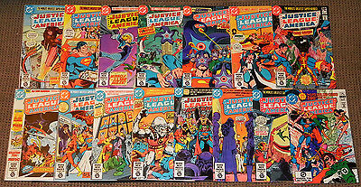 Justice League America/JLA Lot 186-200 193 195 196 197 198 NM- to NM+ DC 1981