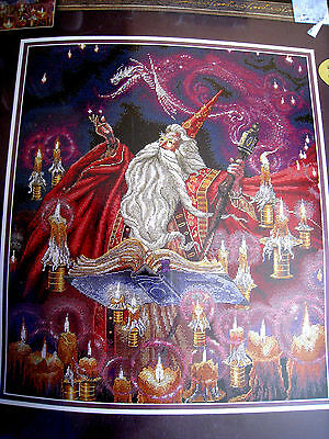 Counted Cross Stitch Dimensions GOLD COLLECTION PICTURE KIT,SCARLET WIZARD,35141