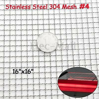 Stainless Steel 304 Mesh #4 .047 Wire Cloth Screen 16''x16'' NEW