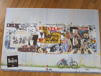 BEATLES Anthology promo DVD poster double sided 20x31 rare Wall & bike image