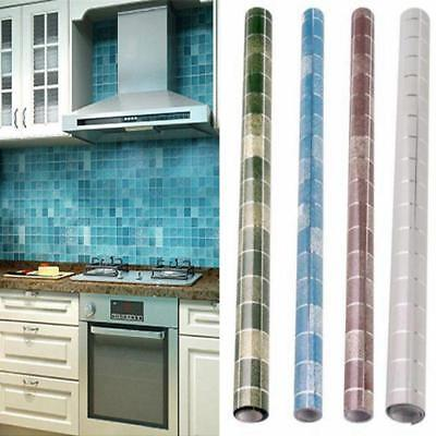 Mosaic Aluminum Foil Oil Proof Home Furniture Wall Vinyl Adhesive Contact Paper