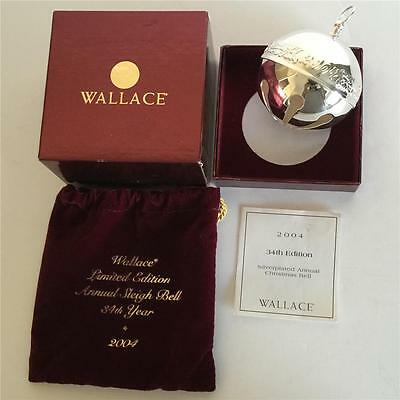 2004 WALLACE Silversmiths Sleigh Bell Silverplated 34th Annual Edition MIB