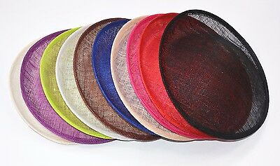 Round Saucer Teardrop Sinamay Percher Hat Fascinator Millinery Craft Base B055