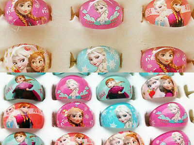 100 kids party frozen  anna elsa resin  Rings children' Jewelry lots wholesale