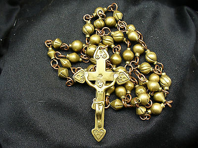 Bronze Spanish Colonial Rosary with Crucifix.  Ex Naomi Lindstrom Collection