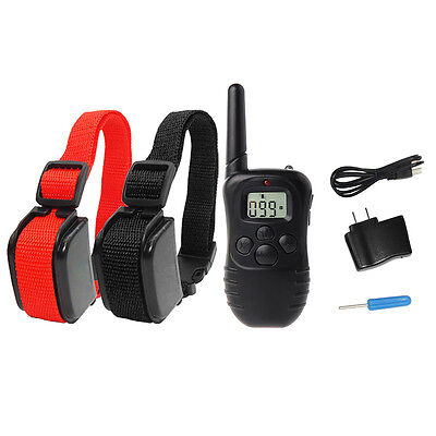 330 Yard Electric Remote Dog Training Collar Rechargeable Shock Collar 2DR