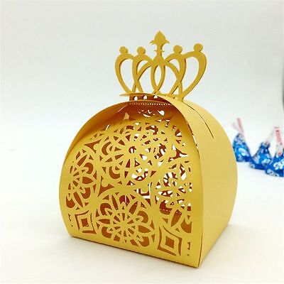 36pcs Gold Wedding Sweet Cake Gift Candy Favour Boxes Bags Party Decoration