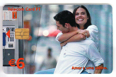 Europe  Telecarte / Phonecard .. Portugal 6€ Pt Couple Cabine 7N°N Chip/puce