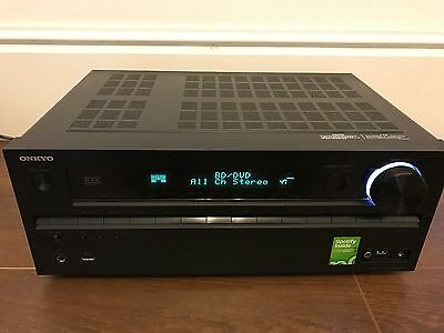 Onkyo TX-NR609 THX 7.2 Channel 3D 4k Network Receiver Black Mint Cond