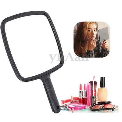 Pro Square Handheld Salon Hand Held Vanity Hairdressing Cosmetic Makeup Mirror
