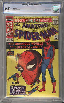 Amazing Spider-Man Annual # 2  The Worlds of Dr Strange ! CBCS 6.0 scarce book !