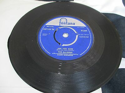 The Allisons - Are You Sure / There's One Thing More - 45Rpm Vinyl-1961