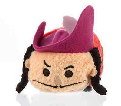 DISNEY STORE - TSUM TSUM PETER PAN - CPT. CAPTAIN HOOK beanie soft toy NEW