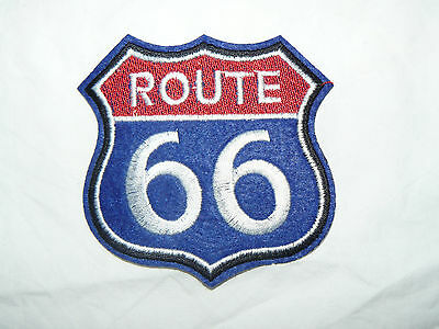 Route 66 Iron-on/sew-on Embroidered Patch Motorcycle Biker