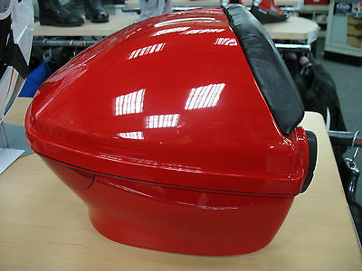 Scooter Motorcycle Top Box Small Inc Back Rest 2 Keys & Fittings - Red - New
