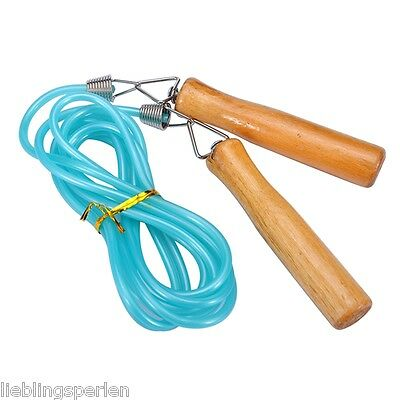 LP 1 Springseil Sprungseil Hüpfseil Speed Rope Skipping Einstellbar Holz Kinder