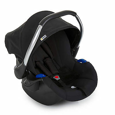 New Hauck Black Comfort Fix Car Seat Group 0+ Baby Carseat / Infant Carrier
