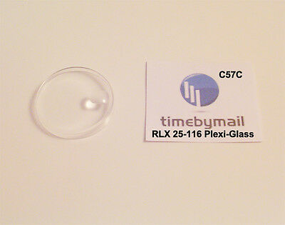 For Rolex 25-116 Plastic Plexi-Glass Watch Crystal Replacement 5 Models C57C