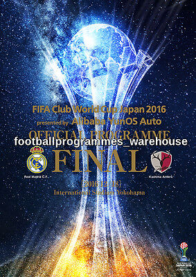FIFA CLUB WORLD CUP 2016 FINAL Real Madrid v Kashima Antlers  Official Programme