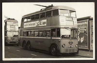 Real Photo Postcard Size London Transport Trolley Bus Willesden Junction Route