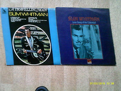 2 Slim Whitman LP's (A Travelling Man & Love Song Of The Waterfalls)