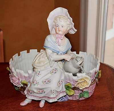 Vintage Planter made of Bisque Porcelain Beautiful Great Condition Double