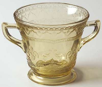 Federal Glass Company PATRICIAN AMBER Open Sugar Bowl 124560