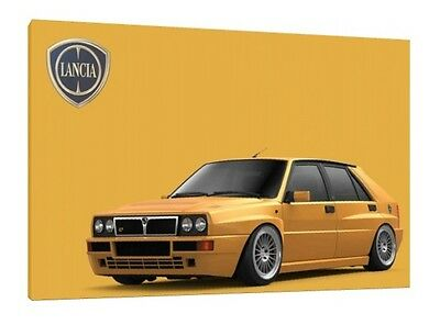 Lancia Delta HF Integrale - 30x20 Inch Canvas Framed Picture Print