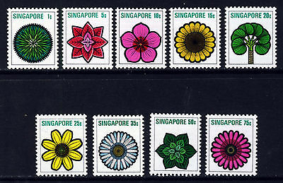 SINGAPORE Queen Elizabeth II 1973 Flowers and Plants Set SG 212 to SG 220 MINT