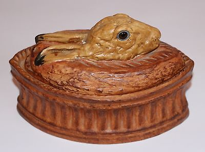Vintage Rabbit Raised Pie Dish Believed To Be Pillivuyt.